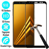 Full Cover Tempered Glass Screen Protector For Samsung Galaxy A9 A7 A8 Plus 2018