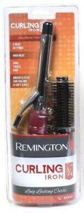 "Remington 3/4"" 2 High Heat Setting Cool Grip Brush Sleeve Long Last Curling Iron"