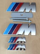 ///M Sport M Power Metal Full Set (1x Front Grill 2x Wings + 1x Boot Badge)BMW