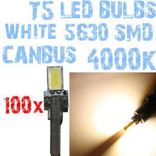 N° 100 Bulbo LED T5 CANBUS 4000K SMD 5630 Faróis Angel Eyes DEPO FK 12v 1A5A 1A5