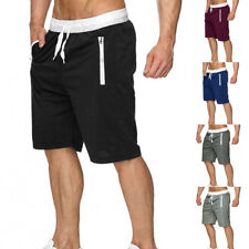Men Sports Beach Shorts Sweatpants Flat Front Gym Loose Summer Elastic Waist NEW