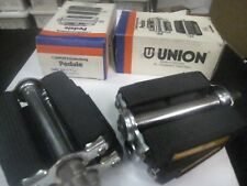 "UNION NOS Bicycle Pedals 9/16"" or 1/2"" Axle for SCHWINN RALEIGH Germany"