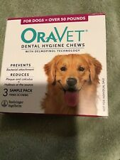 New listing Oravet Dental Hygiene Chews Large Dogs Over 50 lbs, 3 Chews New