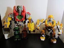 2 Hasbro Transformers Mega Power Bots Construction Devastator Beatmix Bumblebee