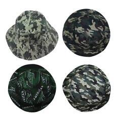 Bucket Hat Fishing Brim Boonie visor Men Sun Hunting Summer Camping-Cap