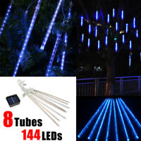 LED Meteor Shower Falling Star String Light Rain Drop Icicle Snow Xmas Tree Deco