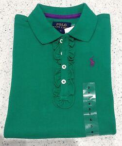 RALPH LAUREN POLO Girls Green Polo Shirt Age 5 BNWT