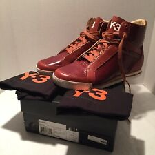 New ADIDAS Y-3 YOHJI YAMAMOTO HEMLA Leather Sneakers DKBROWN USA 9  J270 ($380)