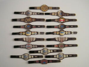 17 Custom Wrestling Figure Belts WCW NWA WWE WWF NXT(Action figure not included)