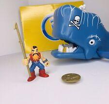 "IMAGINEXT ""Pirate Whale"" Figure Spout Harpoon TreasureCoin Complete Fisher-Price"