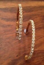 Butterfly Rhinestone Alloy Hoop Costume Earrings
