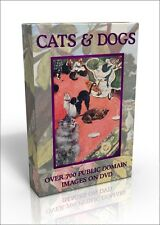 Cats & Dogs - over 700 public domain pictures on DVD. Cecil Aldin & Louis Wain!