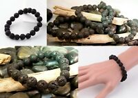 Handcrafted 6mm Aromatherapy LAVA Bead Diffuser Scent Bracelet Essential Oil