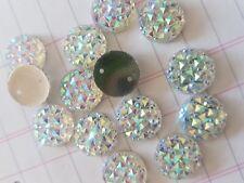 12mm Clear AB round Sew On Stitch JEWEL GEM CRYSTAL RHINESTONE Bead DANCE
