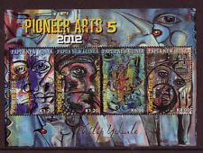 PAPUA NEW GUINEA 2012 PIONEER ARTS 5 UNMOUNTED MINT, MNH