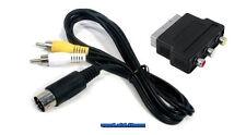 ## SEGA Mega Drive MD 1 AV Cinch Kabel + Scart Adapter - NEUWARE - nicht für MD2