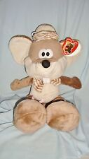 Grande Peluche Souris Mouse Beige & Taupe SANDY NEUF (45cm)