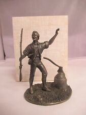 """Vintage 1974 Franklin Mint """"The First Citizen"""" Pewter Statue, 246-E"""