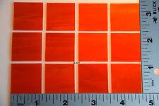"0124.50 -12 THIN OPALESCENT STRIKER RED 1"" x 1"" BULLSEYE GLASS 90 COE"