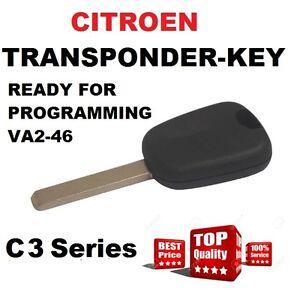 Transponder CAR  Key suitable for  CITROEN C3 PLURIEL  Berlingo c2 c3 c4  VA2-46