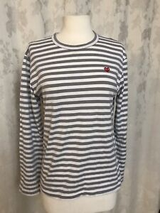 play comme des garcons Striped Long Sleeve Top Size S