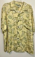 Vintage Tommy Bahama Button Up Hawaiian Shirt 100% Silk Beach Sz L Hard_8s_Magic