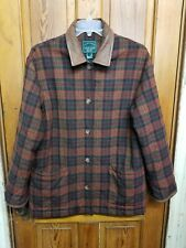 RALPH LAUREN QUILTED PLAID FALL WINTER LEATHER BROWN JACKET S MENS WOMENS UNISEX