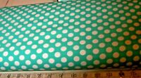 "BTY TEAL 7/16"" POLKA DOTS 100% COTTON FABRIC 59"" WIDE QUILTING HOME DEC CLOTHING"
