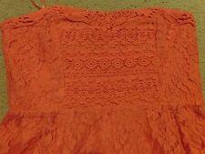 FREE  PEOPLE STRAWBERRY CORSET TUBE DRESS SIZE  8 NEW