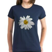 CafePress White Daisy Women's Dark T Shirt Women's Cotton T-Shirt (693943545)
