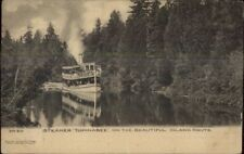 Steamer Boat Topinabee Inland Route Publ in Petoskey MI c1905 UDB Postcard