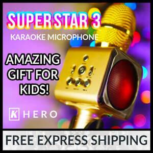 Kids Karaoke Microphone K Hero SUPERSTAR 3 Portable Khero Machine