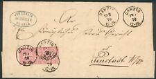 NDP Brief Danzig 1870 orig. gelaufen nach Neustadt W/Pr. RARITÄT