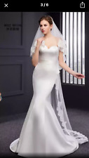 BRIDAL WEDDING 2 TIERS SEQUEN LACE EXQUISITE LONG CATHEDRAL-SWISS  TULLE 300cm