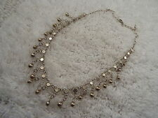 Silvertone Ball Fringe Necklace (C72)