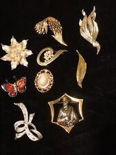 Style Ladies Brooches Nine Assorted Vintage Retro