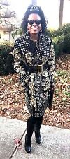 New Designer Oscar de la Renta sequins beads Studs Embroidered Coat Jacket S-L16