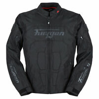 Furygan Carter Motorbike Motorcycle Textile Jacket Black