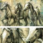 "38W""x24H"" DESERT KINGS by KAREN DUPRE - HORSES GALLOPING STALLIONS PONIES CANVAS"