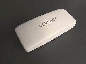 VERSACE sunglasses hard case, white leather-look NWOT