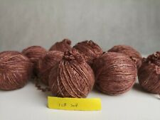 New listing about 1000 yards of 100% merino wool knitting yarn speckled chocolate color