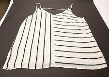 Women's 1. State Spaghetti Strap Striped Blouse Tank Top XL