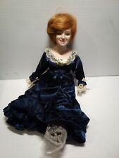 "Fine Porcelain Stuffed 15"" Princess Diana Doll. New In the box."