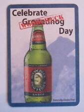 Beer Coaster ~ Celebrate WOODCHUCK Day ~ Naturally Gluten Free Draft Amber Cider