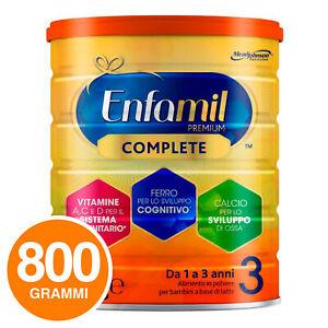 Enfamil Latte in Polvere Premium Complete 3 1-3 anni Mead Johnson Barattolo 800g