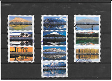 "FRANCE 2017."" REFLETS - PAYSAGES DU MONDE "" LOT DE 10 TIMBRES  AA CACHETS RONDS"