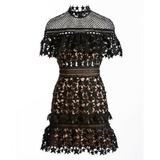 SELF-PORTRAIT Size 14 Yoke Frill Star Mini Dress RRP $520 BNWT