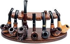 More details for dr. watson - wooden  tobacco pipe stand - seven days - holds 7 pipes, handmade