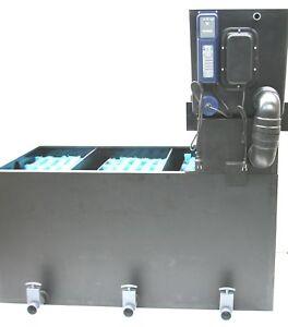 Trommelfilter gepumpt mit Biofilter Mehrkammerfilter incl.Tauch UVC Teichfilter