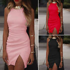Sexy Womens Sleeveless Bandage Short Mini Dress Bodycon Party Cocktail Clubwear